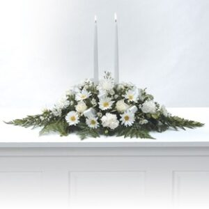 White Centerpiece Flower Arrangement for Flowers or Urn