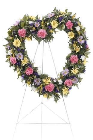 Heart flower Wreath