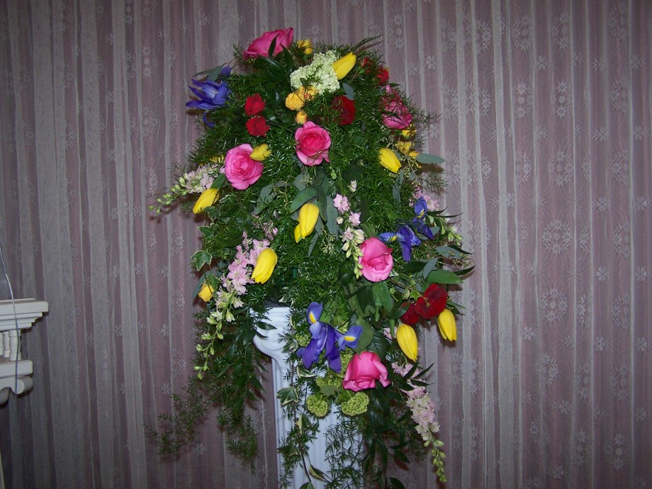 Unique Cascading Floral arrangement