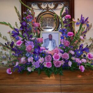 Flower Photo Remembrance arrangement